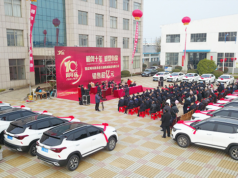 Speech by the chairman of the board of directors of the 10th anniversary celebration of Xinyongjia